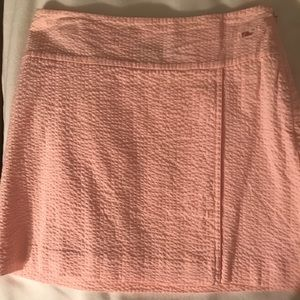 Light Pink Seersucker Vineyard Vines Skirt